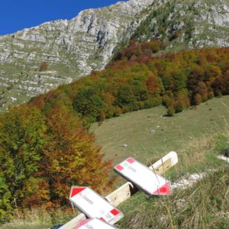 Sentiero per il bivacco Manzano - Val di Resia